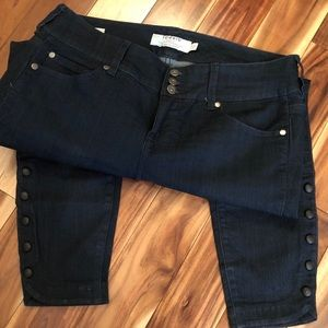 Torrid Jegging Crop Retro Jeans Dark Blue EUC
